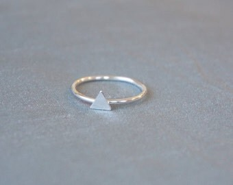 Tiny Triangle Ring, Sterling Silver Ring, Triangle Jewelry, Ring, Sterling Silver, Silver Ring, triangle Ring, Stacking Ring