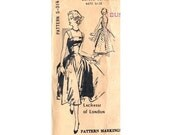 50s LACHASSE of LONDON Bombshell Full Gathered Skirt Dress Pattern Spadea S - 314 Bust 36 1/2 inches