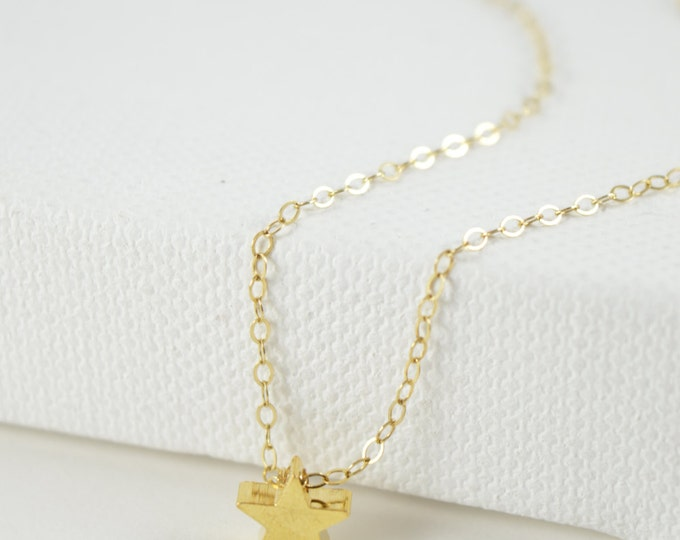 Star Necklace, Everyday Necklace, Bridesmaid Gift, Wedding Necklace, Gift Necklace, Star Jewelry, Minimal, Everyday, Dainty