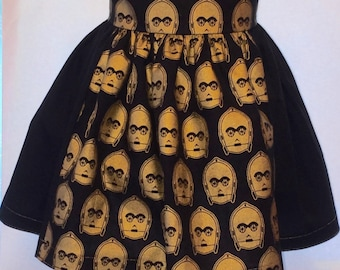C3PO Gold Toddler Girls Party Dress 3T