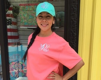 Lilly Print Monogrammed Hat
