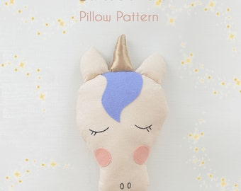Unicorn Pillow Sewing Pattern // DIY // Fabric Toy Pattern // Toy Pattern // Easy Sewing Pattern // Instant Download // PDF //  Solipandi