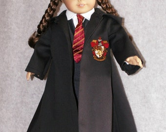 "Harry Potter Gryffindor Outfit fits 18"" American Girl Dolls"