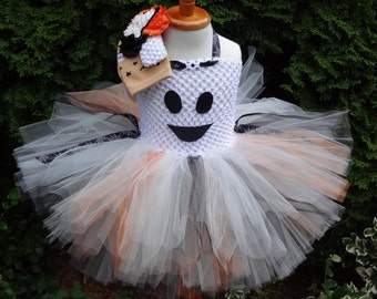 Ghost Tutu Dress, Halloween Ghost Costume, Baby Ghost Costume, Toddler Ghost Outfit, Ghost Tutu Set, White Halloween Costume, Infant costume