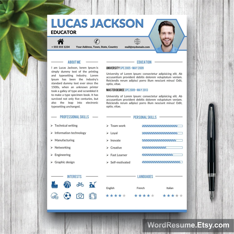 Creative Professional Resume Template CV Template Cover – Portfolio Word Template