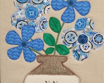 Vase of Blue Flowers