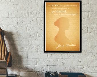 Famous Quote Poster Print - Jane Austen