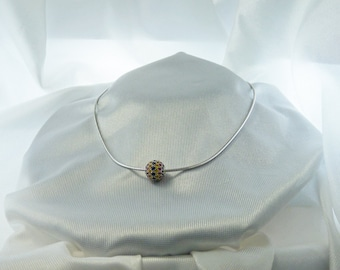 Multi-Colored Sapphire Choker - Reduced Price for Year End Sale!