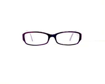 Prada Eyeglasses Frames // Women's 1990's //2 Tone Purple with Silver Readers Frames // Made in Italy// #M141 DIVINE