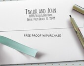 Return Address Stamp - Simple and Clean Handwriting Font. (Handlettered font) Handle or Self-Inking Return Address Stamp  (20467) 2 1/2 X 1