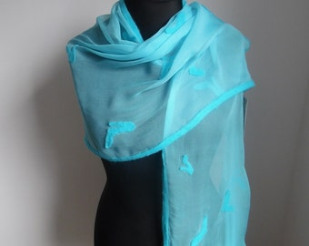 Scarf silk and Merino Wool - eye-catcher for special occasions