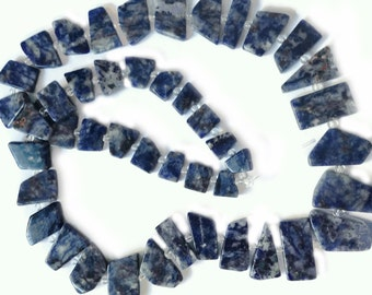 Sodalite geometric shapes.  Select a size:  11mm - 23mm