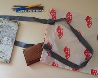 Tote Bag - Car Print Bag - Car Tote - Hand Printed Tote Bag