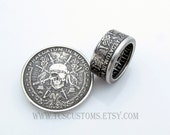 Pirate Coin Ring, Pieces of Eight, 1oz .999 Pure Silver, Unique Engagement Ring, Wedding Ring, Coin Jewelry, Mens, Band, Mans, Rings