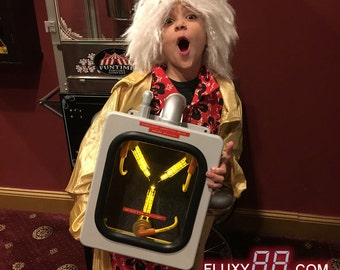 Flux Capacitor Movie Prop (Original Yellow) 30th Anniversary Back To The Future