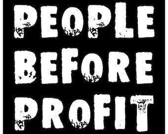 New Sticker People Before Profit Punk Hippie Socialist Anarchist Anti Corporate