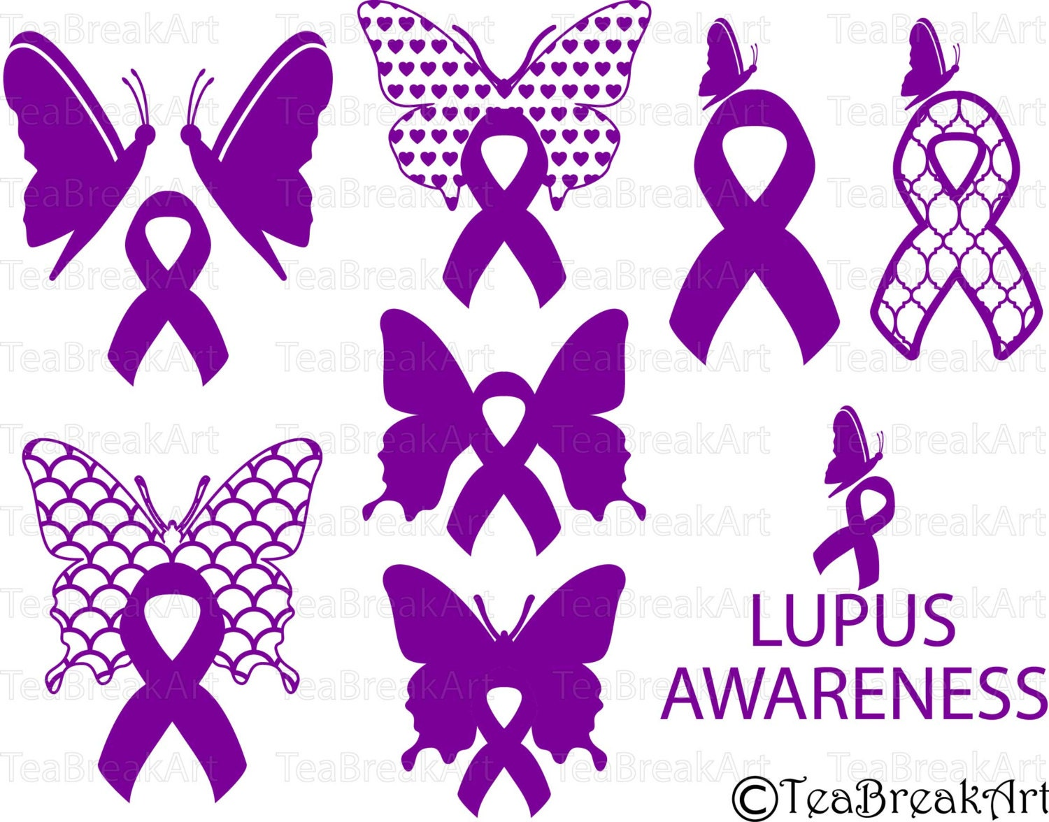 Lupus awareness Cutting Files SVG PNG EPS ClipArt Instant