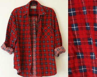 Red and Blue Vintage Flannel