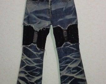 Vintage 80s.Women Jeans Glamour blue Jeans ,Size S