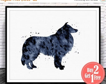 BIG SALE: collie art, collie print, collie painting, collie Illustration, collie wall art, Dog Painting, Nursery Watercolor Wall Art, dog wa