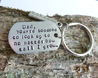 Fathers Day Gift Gifts for Dad New Dad Gift Ideas Dad Key Ring Hand Stamped Jewelry