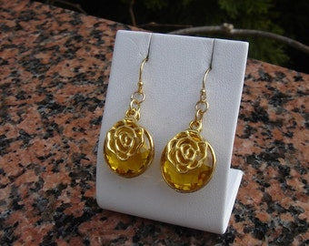 Earrings with citrine in 585-er silver!