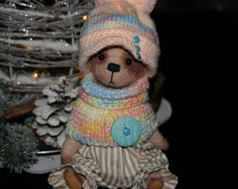 Bear Barborka - artist teddy bear, teddy bear OOAK, artist bear