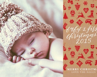 Photo Template - Baby's 1st Christmas