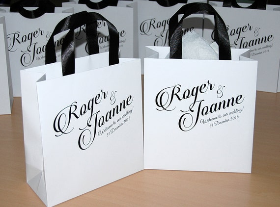 Personalized Wedding Gift Bags For Guests : ... Bags Welcome to our wedding Custom Personalized Wedding Gift bags