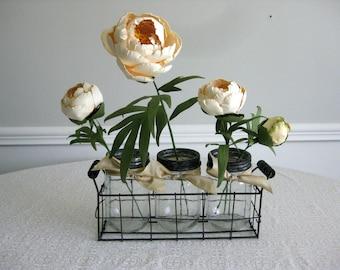 Handmade Paper Peonies in Jars