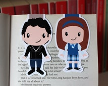 Set of Rory and Jess Magnetic Bookmarks   Gilmore Girls