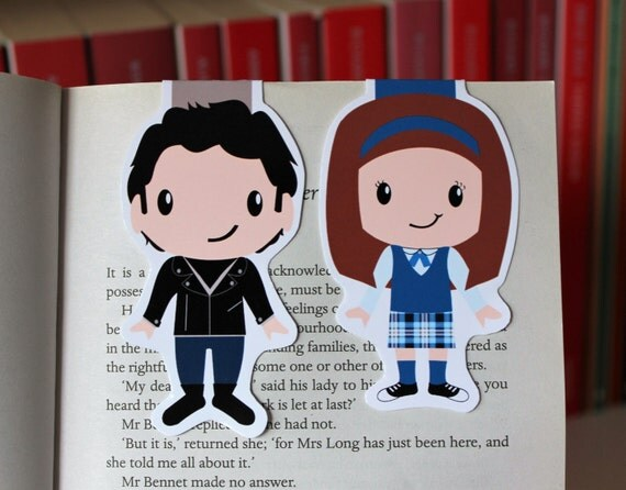 Set of Rory and Jess Magnetic Bookmarks | Gilmore Girls
