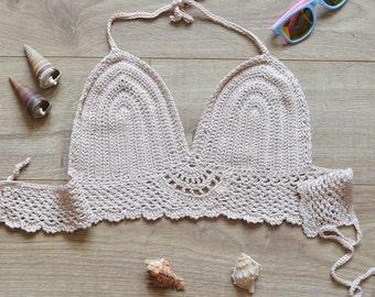 crochet bikini top Yoga top womens gift|for|women crochet bra crochet bralette festival top crop top crochet|halter top crochet top bikini