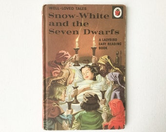 Vintage Ladybird Snow White and the Seven Dwarves Book, Well Loved Tales, Series 606D, Matte Hardback, 15p Cover Price, 1970, 00830