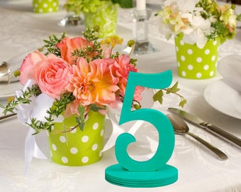 Wooden Table Numbers - DIY Do It Yourself Wedding Table Number Kit - Unfinished Wood Numbers for Wedding DIY Craft- Price per number