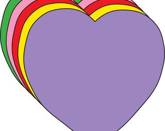 Heart Assorted Color Creative Cut-Outs
