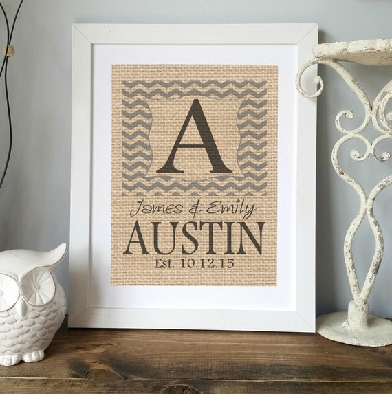 Personalized Wedding Gift For Couple, Monogram Gift, Wedding ...