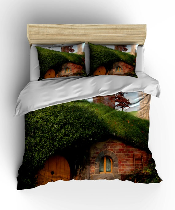 the hobbit duvet cover hobbiton lord of the rings by