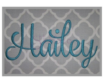 "Hailey 4 Monogram Set LARGE - 3.5"" 4.5"" 5.5"" - Machine Embroidery Fonts - Script Monogram Fonts for Embroidery - Instant Download 11 Formats"