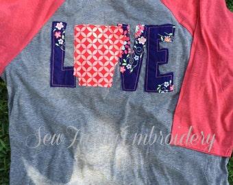 Love Arkansas tee, Arkansas State tee, Arkansas shirt, cute baseball tee, baseball tee with state, monogram shirt