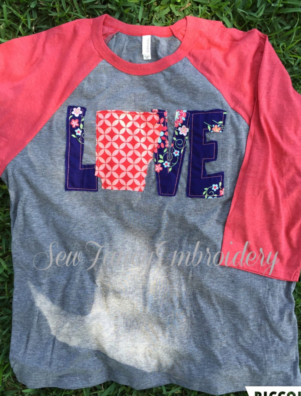 T shirt design jonesboro ar - Love Arkansas Tee Arkansas State Tee Arkansas Shirt Cute Baseball Tee Baseball Tee With State Monogram Shirt