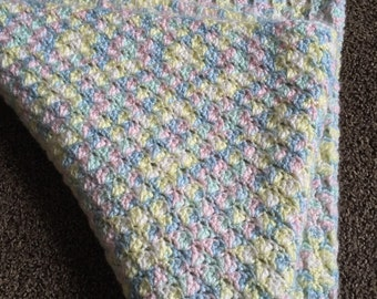 Multi colored baby blanket