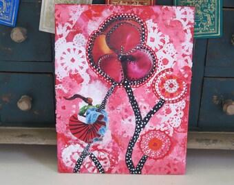 "Greeting Card ""Flowered Dancer"" by artist Cynthia Shaw www.IridianCards.com"