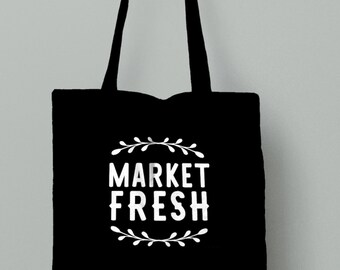 Market Tote, Market Fresh, Grocery bag, Christmas present, birthday gift