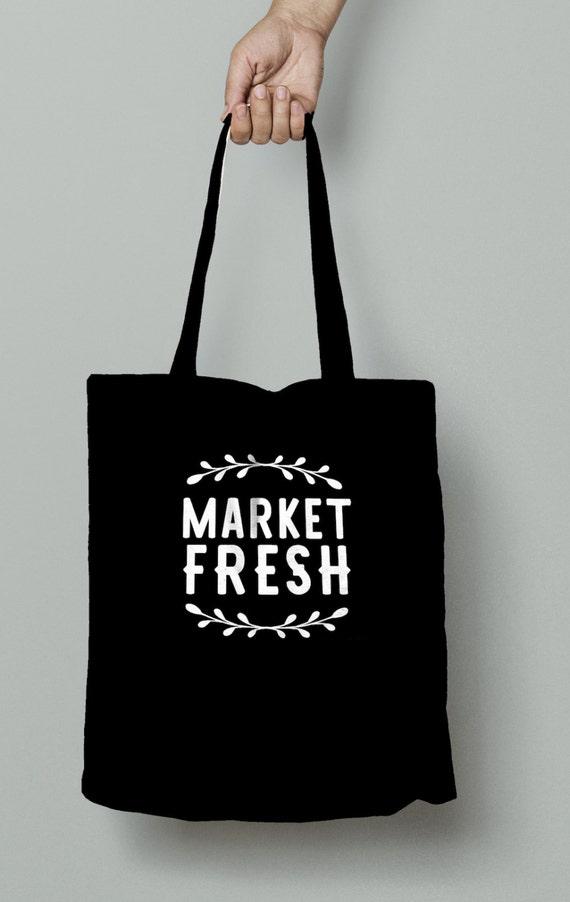 Market Tote, Market Fresh, Grocery bag, Christmas present, birthday gift