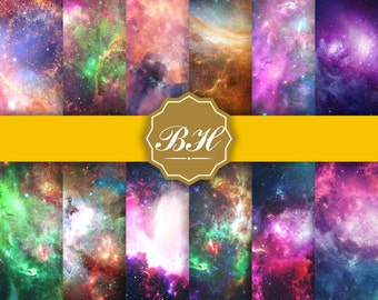 Universe digital paper, Space Backgrounds, Nebula Galaxy Digital Paper, Space Backdrop, Cosmic Space, Outer Space Backgrounds