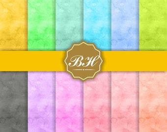 Pastel Watercolor Digital Paper, Digital Watercolor Paper, Watercolor Background, Soft Colors, Painted Paper, Watercolor Textures