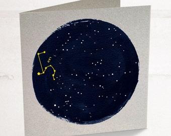 Leo Birthday Card, Starsign card, card for Leo, zodiac birthday card, astrology card, constellation birthday card, horoscope card