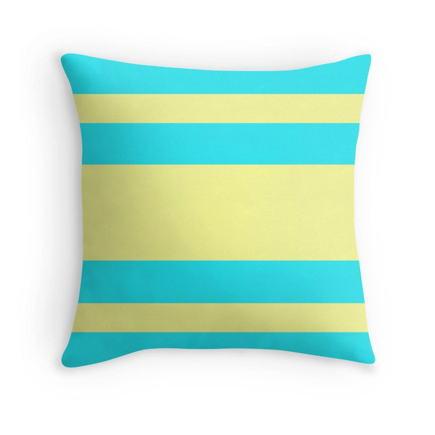 Teal Yellow Pillow Teal Yellow Bedding Teal Yellow Abstract