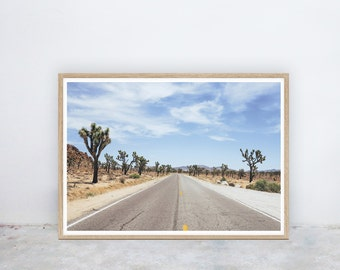 Joshua Tree: Desert, Roadtrip, Palm Springs, Cactus, USA, California, Instant Digital Printable Poster Art Prints, by Nine Lives Collective